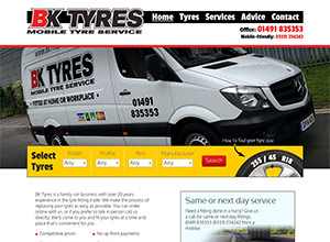 BK Tyres Screenshot