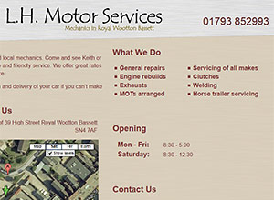 LH Motor Services Screenshot